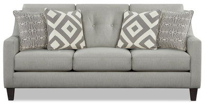 Kylie Linen-Look Fabric Sofa - Zeus Grey - {Contemporary} style Sofa in Zeus Grey {Engineered Wood}, {Solid Hardwoods}