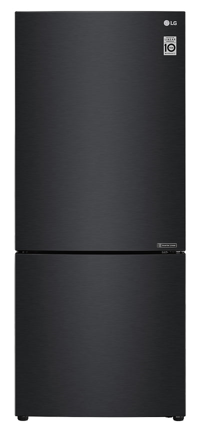 LG 15 Cu. Ft. Counter-Depth Bottom-Freezer Refrigerator - LBNC15231P - Refrigerator in Matte Black