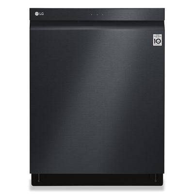 LG Top Control Dishwasher with TrueSteam® QuadWash® and 3rd Rack - LDP6809BM - Dishwasher in Matte Black Stainless Steel