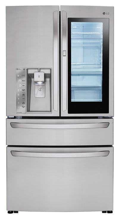 LG 23 Cu. Ft. InstaView™ Door-in-Door® French-Door Refrigerator - LMXC23796S - Refrigerator in Stainless Steel