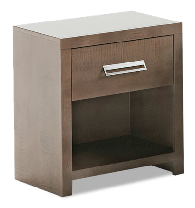 London Nightstand - {Modern} style Nightstand in Prairie Storm {Medium Density Fibreboard (MDF)}
