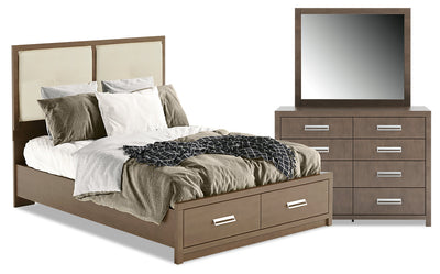London 5-Piece Queen Panel Bed Package|Ensemble de chambre à coucher London 5 pièces avec grand lit à panneaux|LONDCQP5