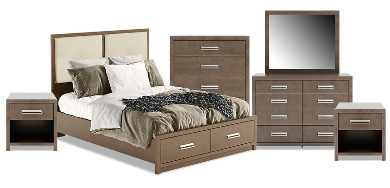 London 8-Piece Queen Panel Bed Package|Ensemble de chambre à coucher London 8 pièces avec grand lit à panneaux|LONDCQP8