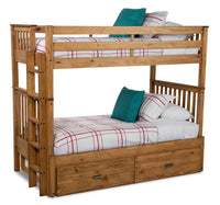Louise Extendable Twin-Twin Bunkbed - Brown