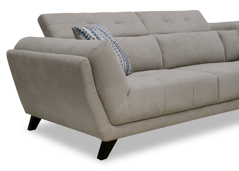 Louis 2-Piece Chenille Right-Facing Sectional – Dove