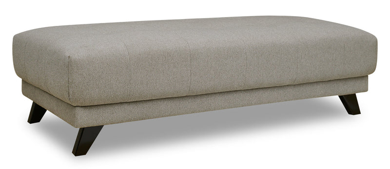 Louis Chenille Ottoman -- Dove - {Retro}, {Modern} style Ottoman in Dove {Plywood}, {Solid Hardwoods}
