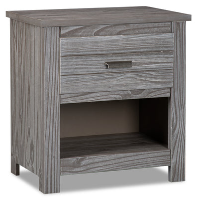Louise Nightstand - Grey - {Contemporary} style Nightstand in Antique Grey {Pine}