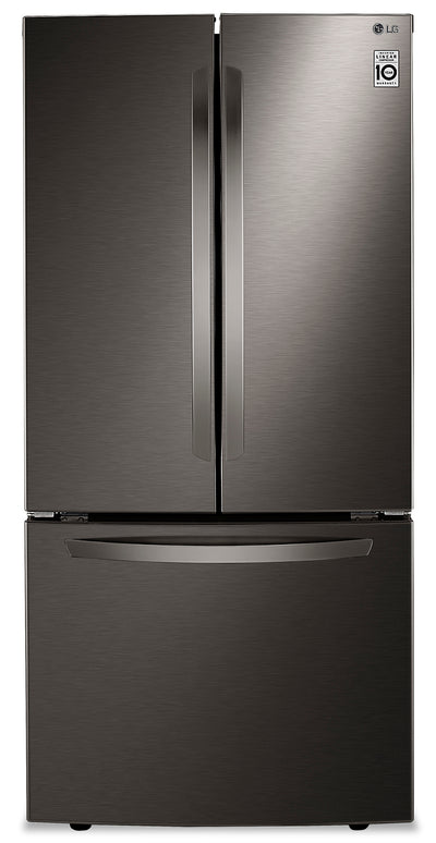 LG 25 Cu. Ft. Smudge Resistant French-Door Refrigerator - LRFCS2503D - Refrigerator in Black Stainless Steel