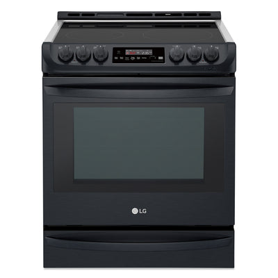 LG 6.3 Cu. Ft. Front-Control Freestanding Electric Range ProBake Convection™ – LSE5613BM - Electric Range in Black Stainless Steel
