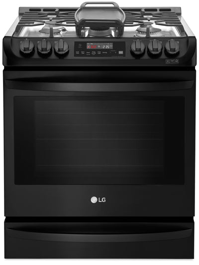 LG 6.3 Cu. Ft. Smart Slide-In Gas Range - LSG4515BM - Gas Range in Matte Black Stainless Steel