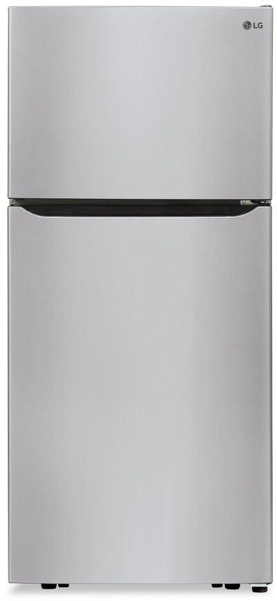 LG 20 Cu. Ft. Top-Freezer Refrigerator - LTCS20020S - Refrigerator in Stainless Steel