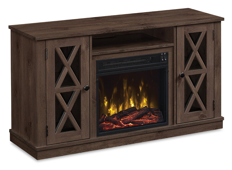 "Lukas 47"" TV Stand with Log Firebox"