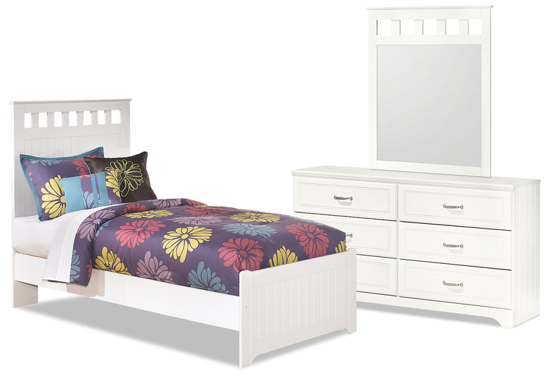 Lulu 5-Piece Twin Panel Bedroom Package - Country style Bedroom Package in White