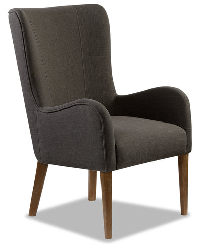 Lydia Wing Dining Chair – Charcoal|Chaise de salle à manger à oreilles Lydia - anthracite|LYDIBDAC