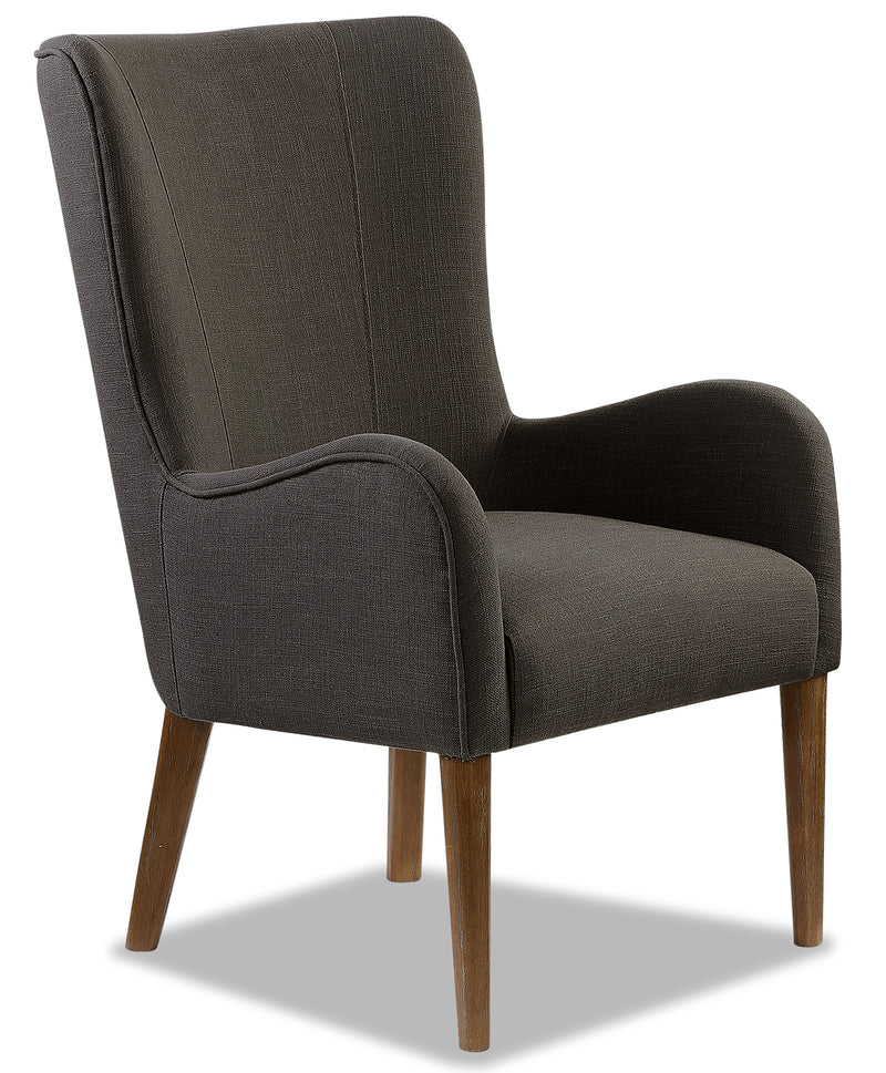 Lydia Wing Dining Chair – Charcoal|Chaise de salle à manger à oreilles Lydia - anthracite