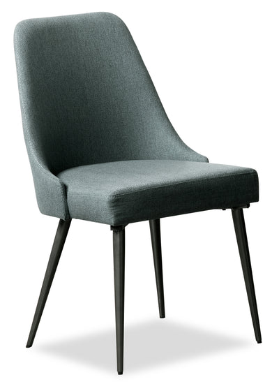 Macsen Dining Chair – Teal - Retro style Dining Chair in Teal Metal and Polyester