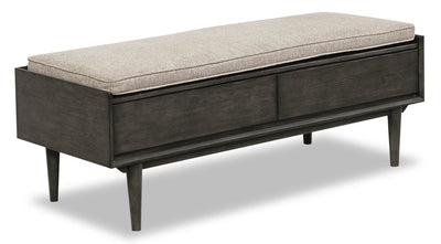 Macy Bench - {Retro} style Bench in Graphite {Solid Hardwoods}