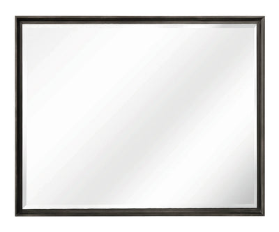 Macy Mirror - {Retro} style Mirror in Graphite {Solid Hardwoods}