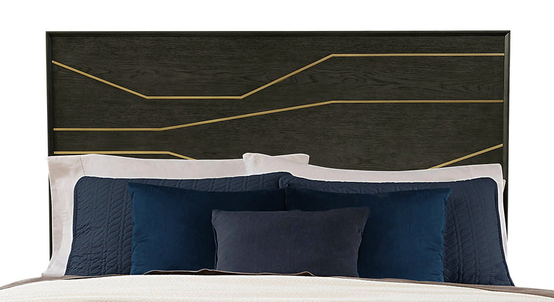 Macy King Headboard - {Retro} style Headboard in Graphite {Solid Hardwoods}