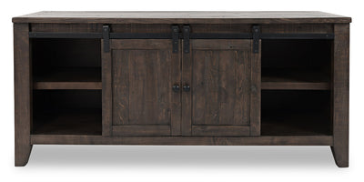 "Madison 60"" Barn Door TV Stand – Brown - Rustic, Modern, Contemporary style TV Stand in Brown Reclaimed Wood"