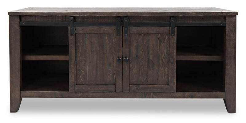 "Madison 60"" Barn Door TV Stand – Brown