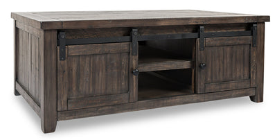 Madison Barn Door Coffee Table – Brown - {Rustic}, {Modern}, {Contemporary} style Coffee Table in Brown {Reclaimed Wood}