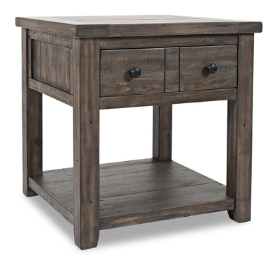 Madison End Table – Brown - {Rustic}, {Modern}, {Contemporary} style End Table in Brown {Reclaimed Wood}