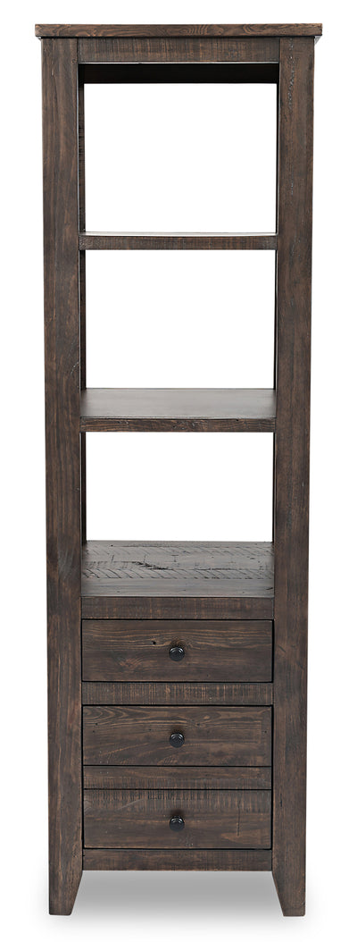 Madison Bookcase Pier – Brown - Rustic, Modern, Contemporary style Storage Pier in Brown Reclaimed Wood
