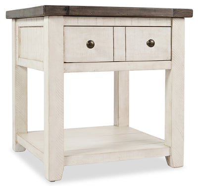 Madison End Table – White - {Rustic}, {Modern}, {Contemporary} style End Table in White {Reclaimed Wood}