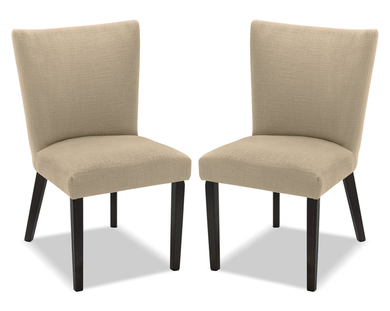 Mady Dining Chair, Set of 2 – Beige|Chaise de salle à manger Mady, ensemble de 2 – beige|MADYTDSP