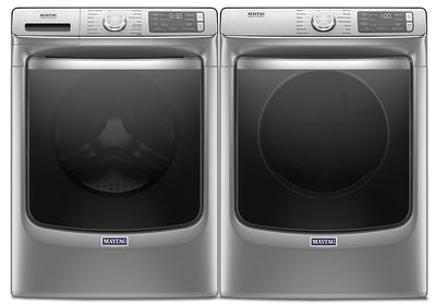 Maytag Front-Load 5.8 Cu. Ft. Smart Washer with Extra Power and 7.3 Cu. Ft. Gas Smart Dryer – Slate