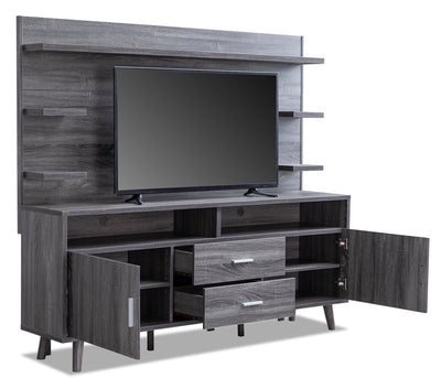 "Malibu 2-Piece Entertainment Centre with 50"" TV Opening"
