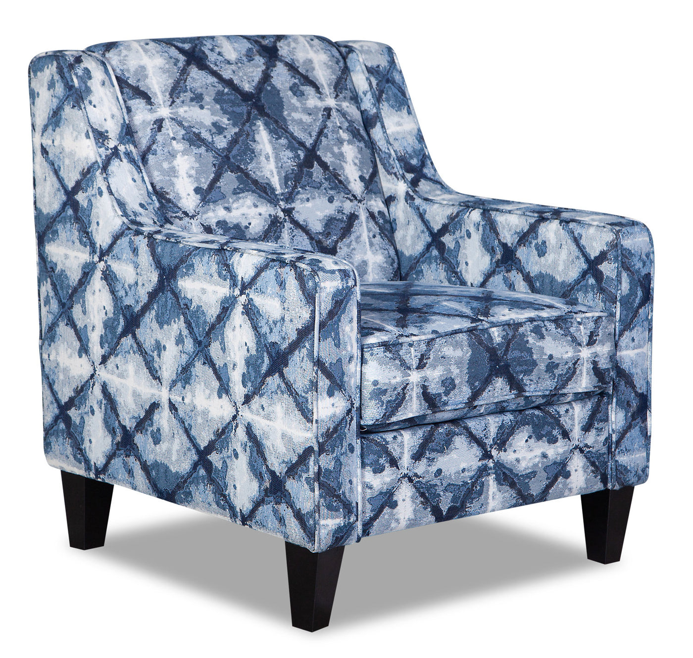 Super Malia Fabric Accent Chair Reflect Indigo Machost Co Dining Chair Design Ideas Machostcouk