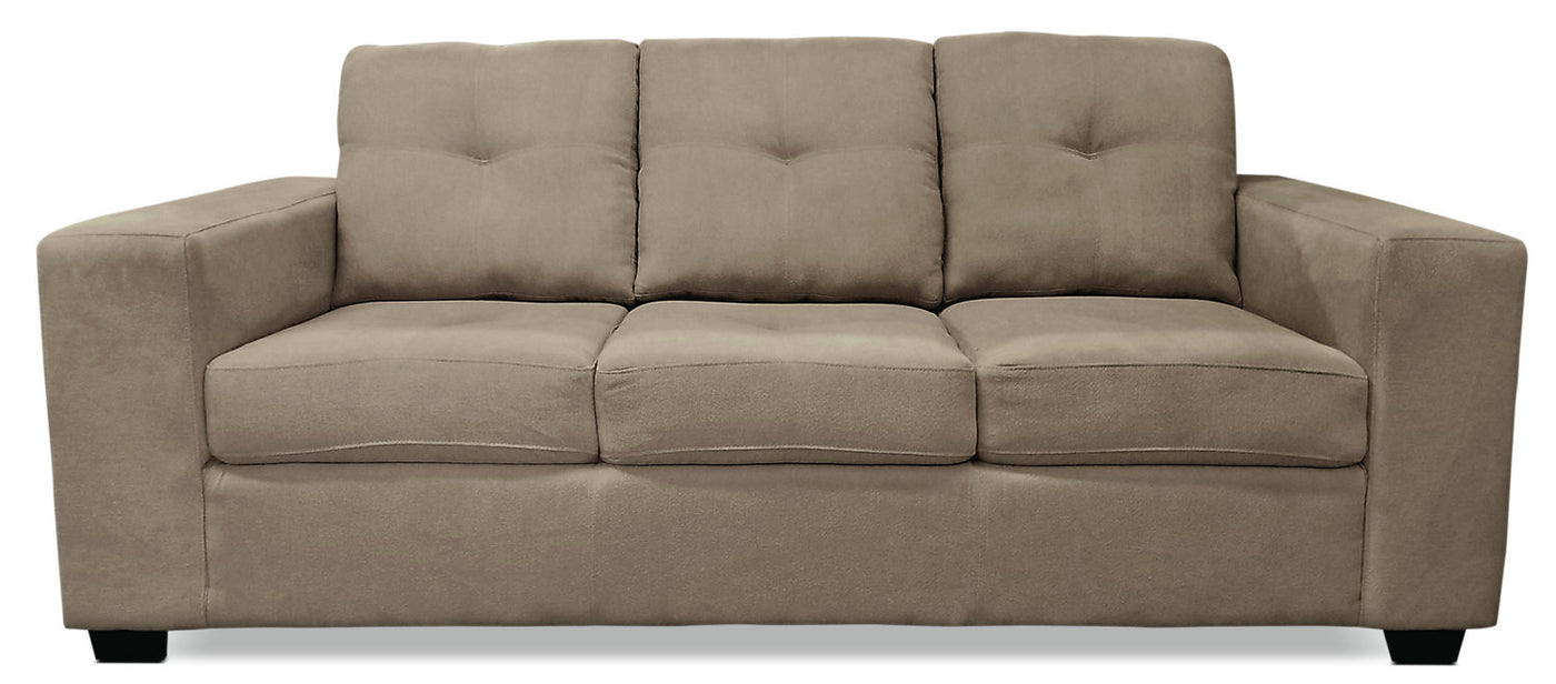Strange Mara Chenille Sofa Light Brown Caraccident5 Cool Chair Designs And Ideas Caraccident5Info