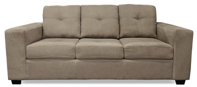 Mara Chenille Sofa - Light Brown - Contemporary style Sofa in Light Brown