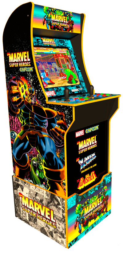 Arcade1Up Limited Edition Officially Licensed MarvelTM  Super Heroes Arcade Cabinet with Riser|Borne de jeu Arcade1Up jeu d'arcade Super Heroes sous licence officielle de MarvelMD avec plateforme
