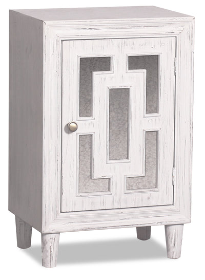 Marion Single-Door Cabinet - White|Armoire décorative Marion à 1 porte - blanche|MASCRACC