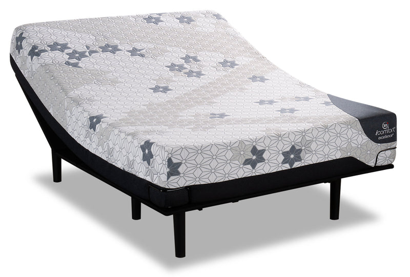 Serta iComfort Excellence Magnitude Twin XL Mattress with Motion Slim Adjustable Base|Ensemble matelas Magnitude iComfortMD Serta pour lit simple très long et base ajustable Motion Slim