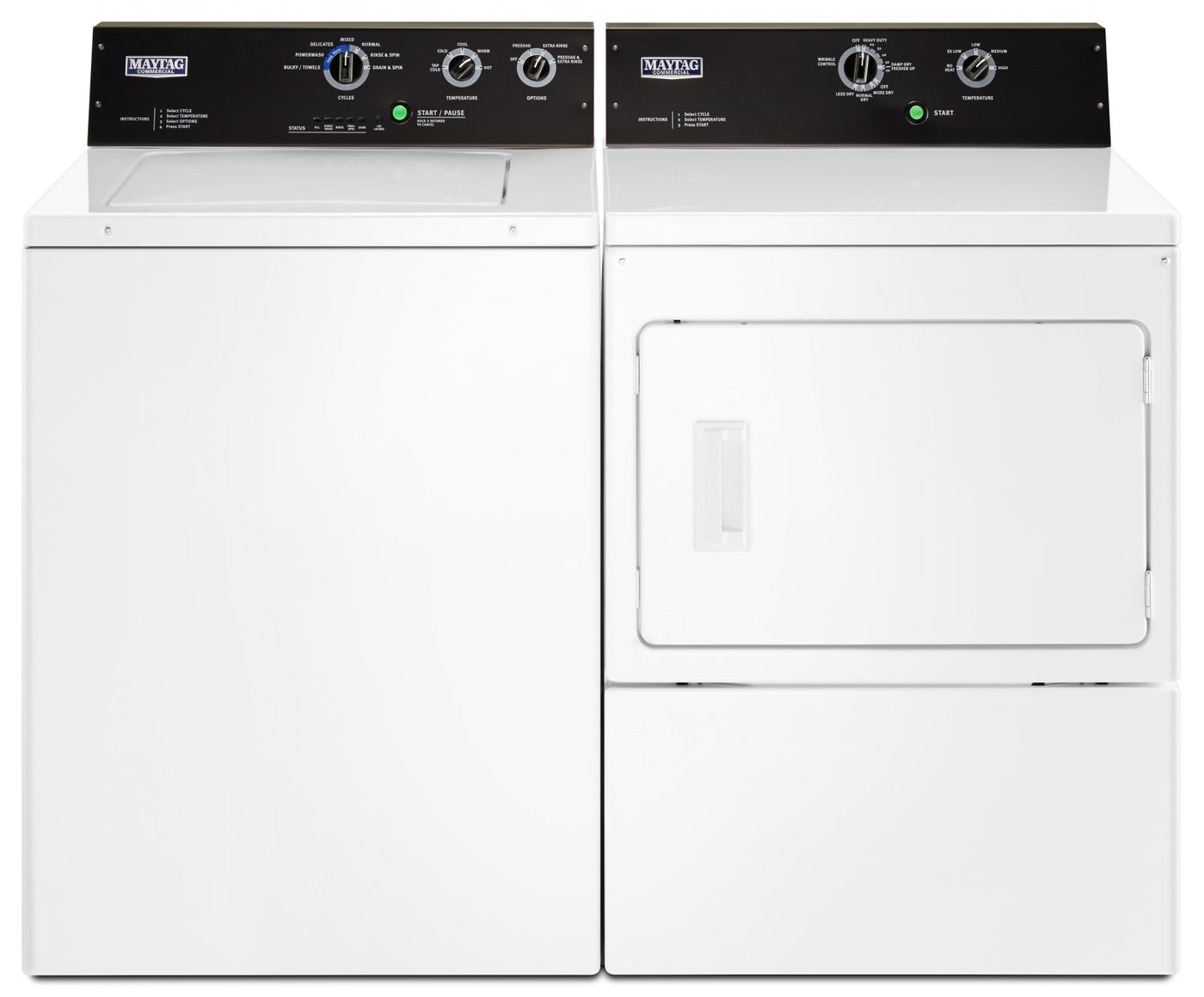 Maytag 4 Cu Ft Commercial Grade Washer And 7 4 Cu Ft