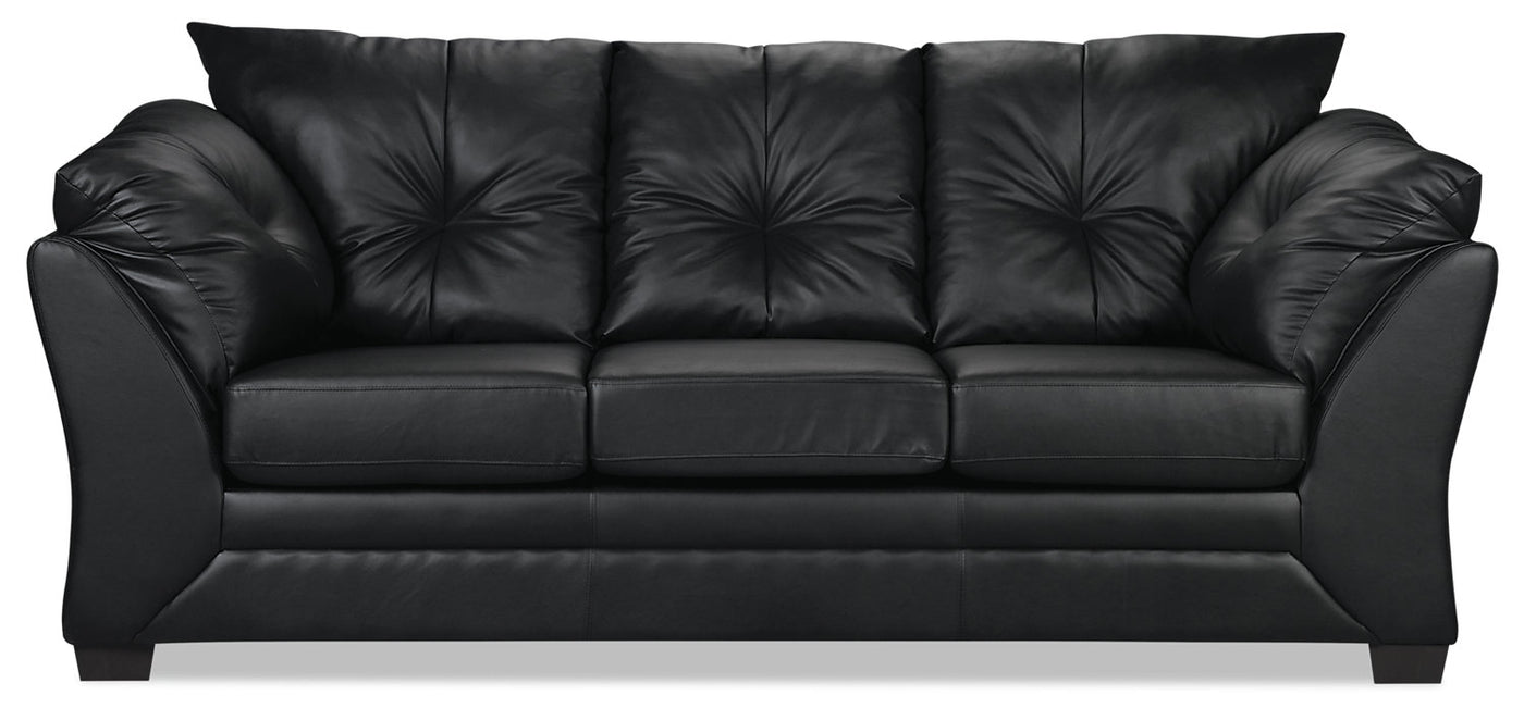 Enjoyable Max Faux Leather Sofa Black Caraccident5 Cool Chair Designs And Ideas Caraccident5Info