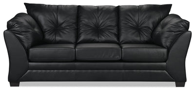 Max Faux Leather Sofa - Black - Contemporary style Sofa in Black