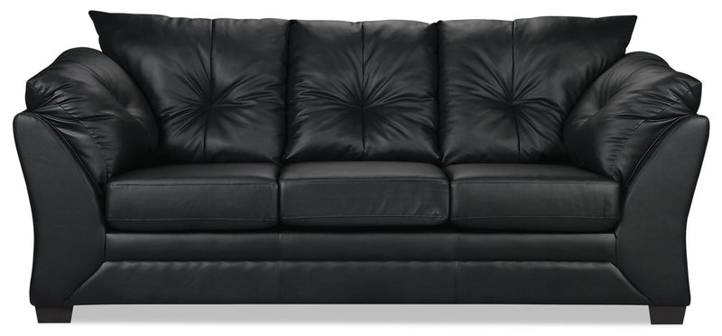 Max Faux Leather Sofa - Black|Sofa Max en similicuir - noir|MAXB-S