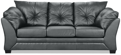 Max Faux Leather Full-Size Sofa Bed - Grey - Contemporary style Sofa Bed in Grey