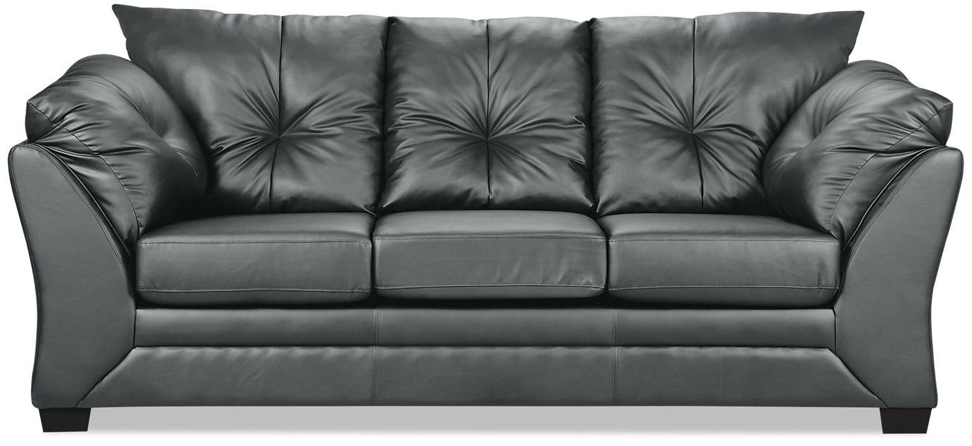 Admirable Max Faux Leather Sofa Grey Caraccident5 Cool Chair Designs And Ideas Caraccident5Info