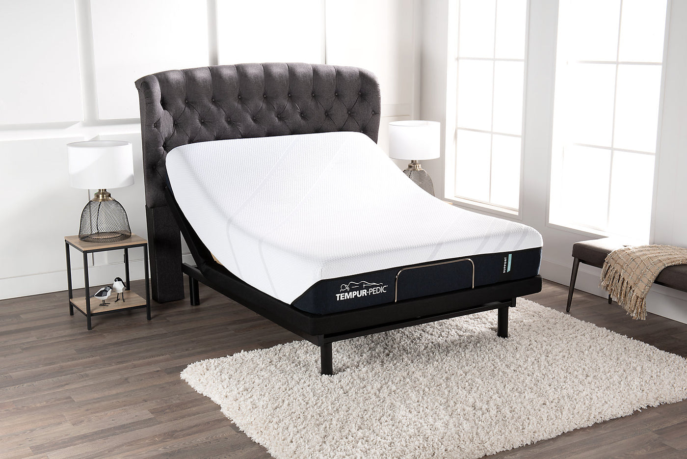 buy popular 2cbb1 4e494 Tempur-Pedic Support Medium Queen Mattress with Reflexion by Sealy Lift  Adjustable Base