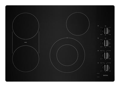 "Maytag 30"" Electric Cooktop with Reversible Grill and Griddle - MEC8830HB"