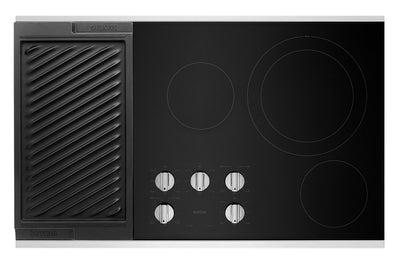 "Maytag 36"" Electric Cooktop with Reversible Grill and Griddle - MEC8836HS"