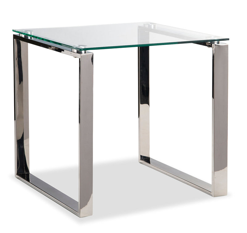 Metro End Table - {Modern} style End Table {Metal}, {Glass}