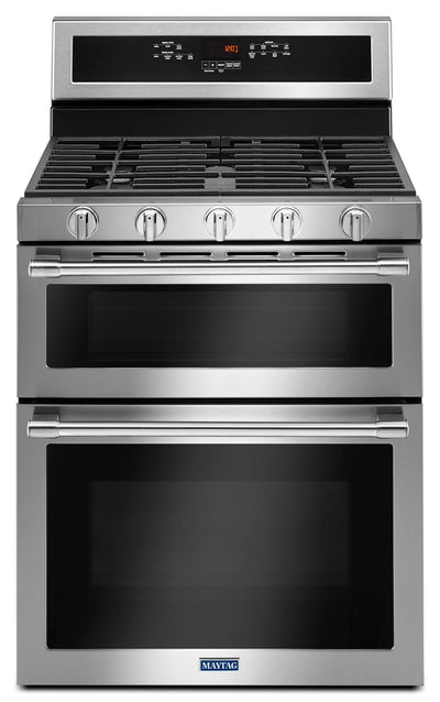 Maytag 6.0 Cu. Ft. Double Oven Gas Range with Convection – MGT8800FZ - Gas Range in Stainless Steel