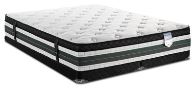 Springwall Manhattan Eurotop Low-Profile Split Queen Mattress Set|Ensemble matelas à Euro-plateau divisé à profil bas Manhattan de Springwall pour grand lit|MHATLSQP